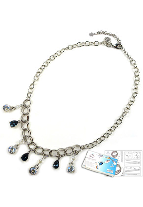 www.sayila-perlen.de - DoubleBeads Schmuckpaket Droplets Halskette ± 45-53cm mit SWAROVSKI ELEMENTS