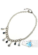 www.sayila-perlen.de - DoubleBeads Schmuckpaket Droplets Halskette ± 45-53cm mit SWAROVSKI ELEMENTS - E01616