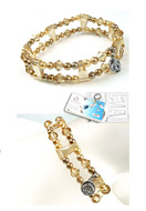www.sayila.com - DoubleBeads Jewelry Kit Nostalgic Charm bracelet stretchable, smallest size ± 18cm with SWAROVSKI ELEMENTS - E01653