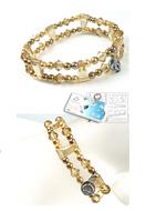 www.sayila-perlen.de - DoubleBeads Schmuckpaket Nostalgic Charm Armband elastisch, Innermaß ± 18cm mit SWAROVSKI ELEMENTS - E01653