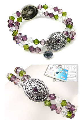 www.sayila-perlen.de - DoubleBeads Schmuckpaket Medieval Treasure Armband elastisch, Innermaß ± 18cm, mit SWAROVSKI ELEMENTS