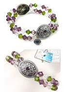 www.sayila.nl - DoubleBeads Sieradenpakket Medieval Treasure armband rekbaar, binnenmaat ± 18cm, met SWAROVSKI ELEMENTS - E01655