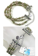 www.sayila-perlen.de - DoubleBeads Schmuckpaket Jungle Chic Armband, Innermaß ± 21-29cm, mit SWAROVSKI ELEMENTS - E01657