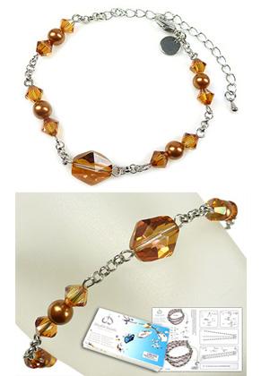 www.sayila.es - DoubleBeads Kit de Joyería Simplicity pulsera, tamaño interno ± 17-25cm, con SWAROVSKI ELEMENTS