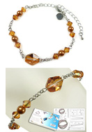 www.sayila.com - DoubleBeads Jewelry Kit Simplicity bracelet, inner size ± 17-25cm, with SWAROVSKI ELEMENTS - E01686