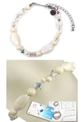 www.sayila.com - DoubleBeads Jewelry Kit Atlantis bracelet, inner size ± 19-27cm, with SWAROVSKI ELEMENTS