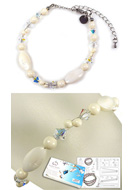www.sayila.com - DoubleBeads Jewelry Kit Atlantis bracelet, inner size ± 19-27cm, with SWAROVSKI ELEMENTS - E01688