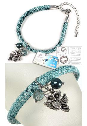 www.sayila-perlen.de - DoubleBeads Schmuckpaket Animal Kingdom Armband, Innenmaß ± 21,5-29cm, mit SWAROVSKI ELEMENTS