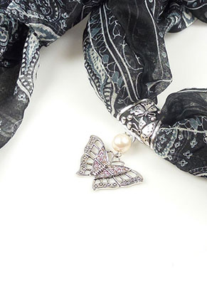 www.sayila.nl - DoubleBeads Mini Sieradenpakket sjaal sieraad ± 9cm met SWAROVSKI ELEMENTS