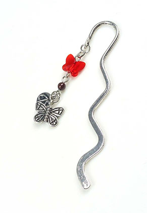 www.sayila-perlen.de - DoubleBeads Mini Schmuckpaket Lesezeichen Schmetterling ± 8,5cm mit SWAROVSKI ELEMENTS