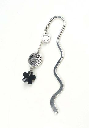 www.sayila-perlen.de - DoubleBeads Mini Schmuckpaket Lesezeichen Blume ± 8,5cm mit SWAROVSKI ELEMENTS
