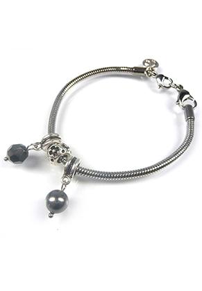 www.sayila-perlen.de - DoubleBeads Mini Schmuckpaket Grossloch-Stil Armband ± 18-20cm mit SWAROVSKI ELEMENTS