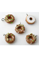 www.sayila-perlen.de - Kunststoff Anhänger Donut 17x13mm - E01894