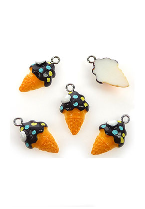 www.sayila.co.uk - Synthetic pendants/charms ice cream 22x12mm