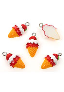 www.sayila.co.uk - Synthetic pendants/charms ice cream 23x12mm - E01899