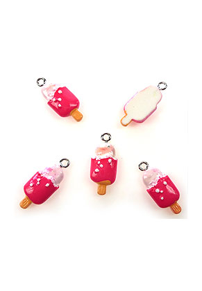www.sayila.com - Synthetic pendants/charms ice cream 24x10mm