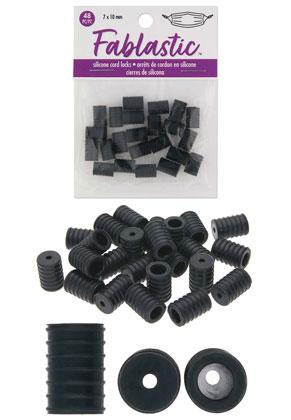 www.sayila.nl - Beadsmith Fablastic siliconen koord stoppers 10x7mm