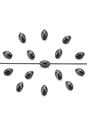 www.sayila.com - Natural stone beads Hematite oval 5x3mm