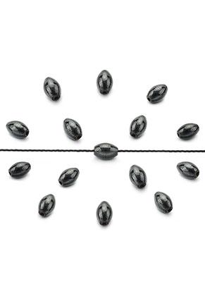 www.sayila.com - Natural stone beads Hematite oval 6x4mm