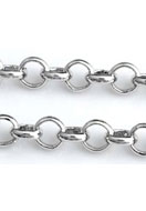 www.sayila.co.uk - Metal chain rhodium plated with 4mm links - E02046