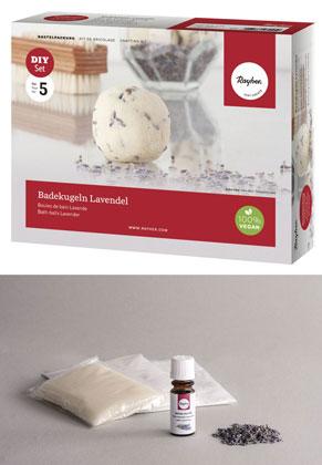 www.sayila.com - Rayher DIY crafting kit bath balls Lavender