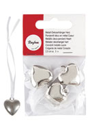 www.sayila.com - Rayher metal look deco pendant heart 11x2,3cm - E02132