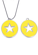 www.sayila-perles.be - Pendentif en métal ovale avec epoxy et étoile 33x25mm - E02205