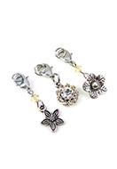 www.sayila-perlen.de - DoubleBeads Mini Schmuckpaket Mix & Match Anhänger Blumen (Satz von 3) ± 30-35mm mit SWAROVSKI ELEMENTS - E02469