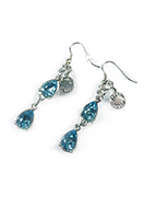 www.sayila-perles.be - DoubleBeads Mini Kit de Bijoux boucles d'oreilles ± 6cm avec SWAROVSKI ELEMENTS - E02513