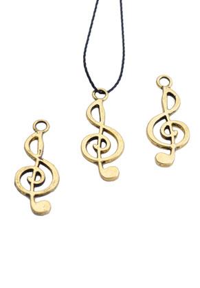 www.sayila.fr - Pendentifs en métal clef musique 25x10mm