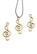 www.sayila.nl - Metalen hangers muzieksleutel 25x10mm - E02822