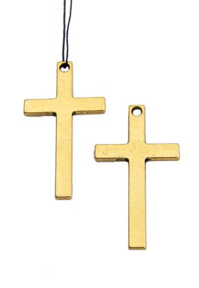 www.sayila.nl - Metalen hangers kruis 52x28mm