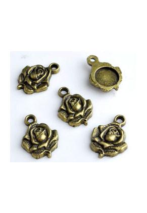 www.sayila.fr - Pendentifs/breloques en métal rose 20x14mm