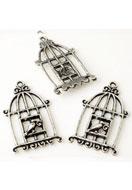 www.sayila.nl - Metalen hangers vogelkooi met vogel 34x20mm - E03211