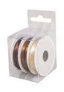 www.sayila.com - Rayher mix satin ribbons 3mm (3 x 6 meter) - E03223