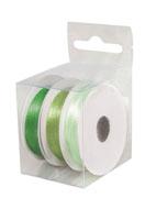 www.sayila.com - Rayher mix satin ribbons 3mm (3 x 6 meter) - E03225