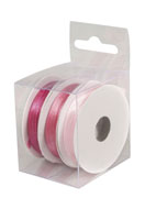 www.sayila.com - Rayher mix satin ribbons 3mm (3 x 6 meter) - E03226