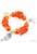 www.sayila.nl - EasyPack kralenset armband van glaskralen, porseleinen kralen, metalen hangers/bedels en lint, rekbaar, binnenmaat ± 17cm