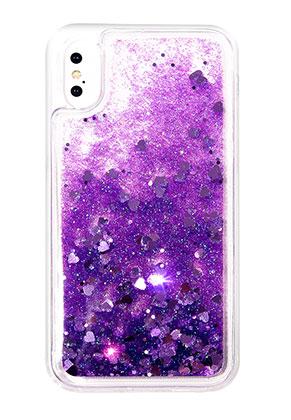 www.sayila.nl - Kunststof back cover telefoonhoesje voor iPhone X met glitters 14,6x7,3cm