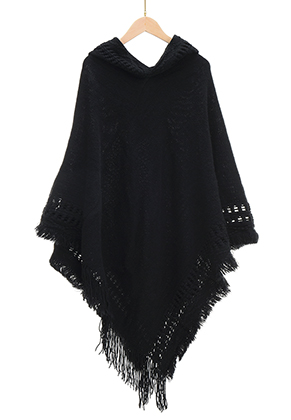 www.sayila.com - Poncho with hood 120x85cm