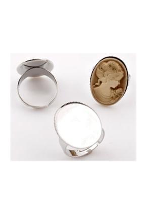 www.sayila.com - Metal rings >= Ø 18,5mm with setting for ± 25x18mm flat back