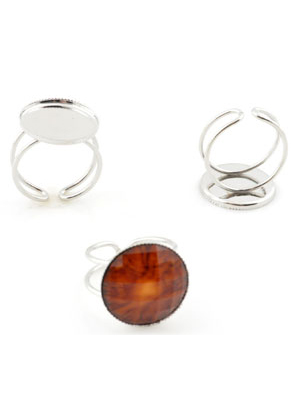 www.sayila.com - Metal fingerrings ± 22x19mm with setting for ± 18mm flat back, adjustable size ± 18-20mm