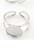www.sayila.com - Metal fingerrings for flat back (± 14mm) round ± 18x15mm (adjustable size >= 14 = 54mm = Ø 17mm)