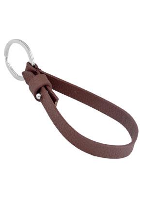 www.sayila.nl - DoubleBeads EasySlide sleutelhanger met metalen ring ± 28mm en imitatieleren koord ± 23x1cm
