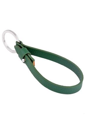 www.sayila.fr - Porte-clés DoubleBeads EasySlide avec anneau en métal ± 28mm et cordon de cuir artificiel ± 23x1cm