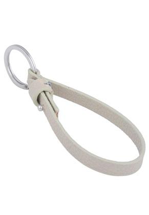 www.sayila-perlen.de - DoubleBeads EasySlide Schlüsselanhänger mit Metall Ringe ± 28mm und Kunstlederschnur ± 23x1cm