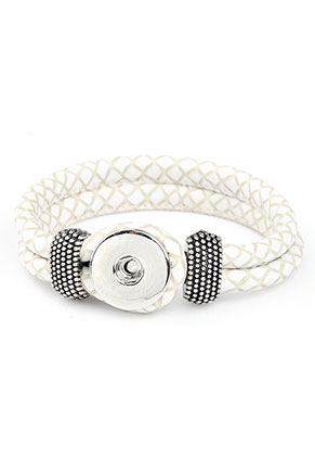 www.sayila.com - DoubleBeads EasyButton imitation leather bracelet, innersize ± 19cm