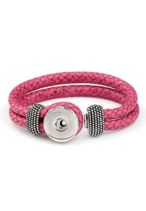 www.sayila.fr - DoubleBeads EasyButton bracelet en cuir artificiel, largeur intérieure ± 19cm