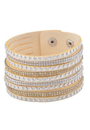 www.sayila.com - Imitation suede wrap bracelet with strass 17-20cm