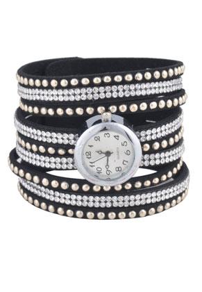 www.sayila.com - Imitation suede watch (2,4cm) with strass 20cm